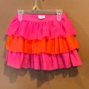 Pink an orange lace tutu skirt like new